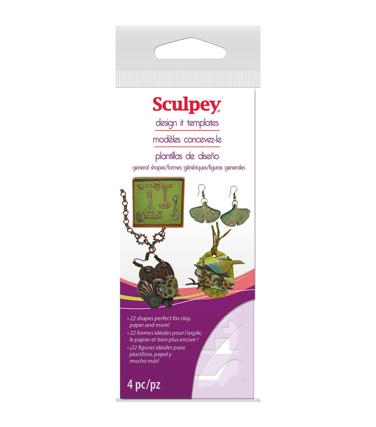Sculpey® Design It Templates-Jewelry Shapes