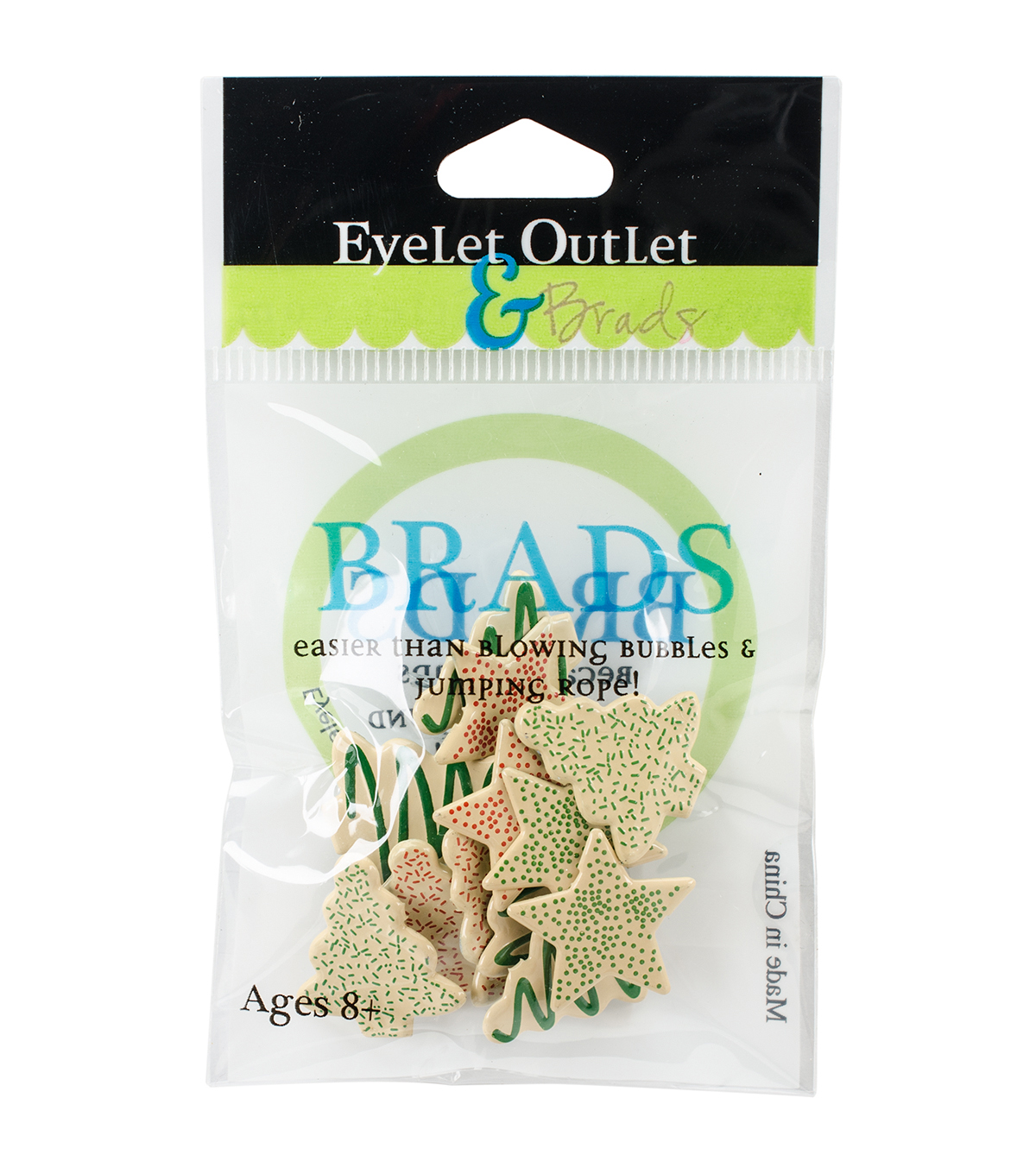 Eyelet Outlet 12ct Shape Brads-Cookies