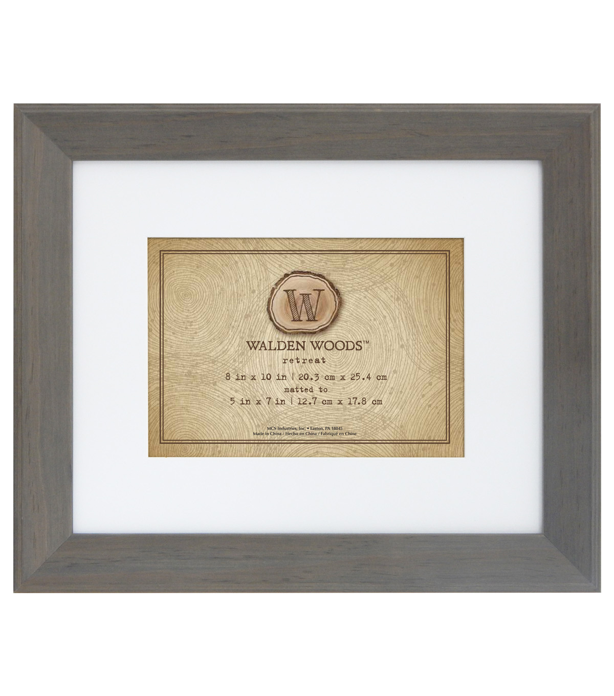 Walden Woods Wall Frame 8X10 To 5X7-Gray