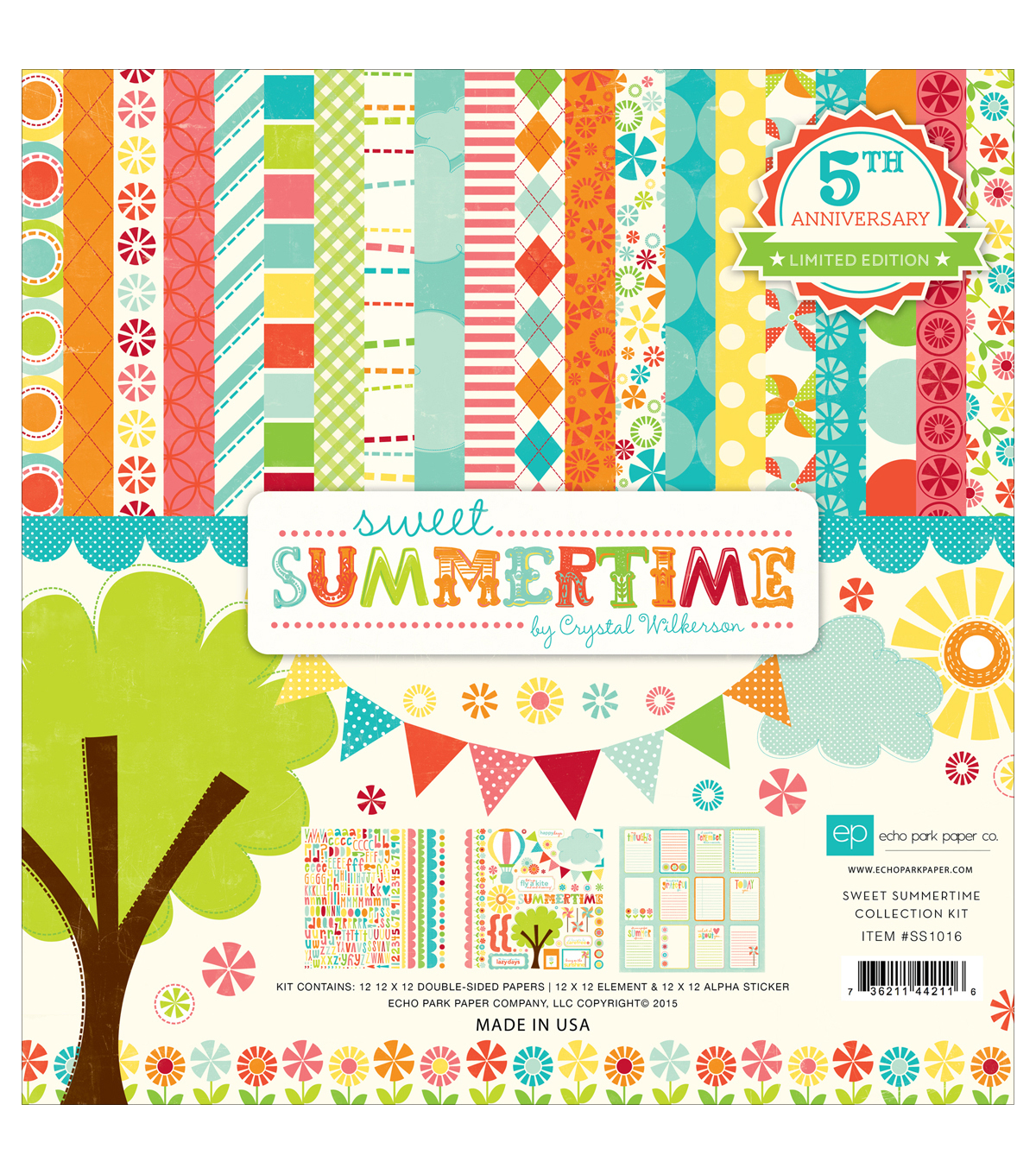 "Echo Park Paper Company™ Sweet Summertime 12""x12"" Scrapbooking Kit"