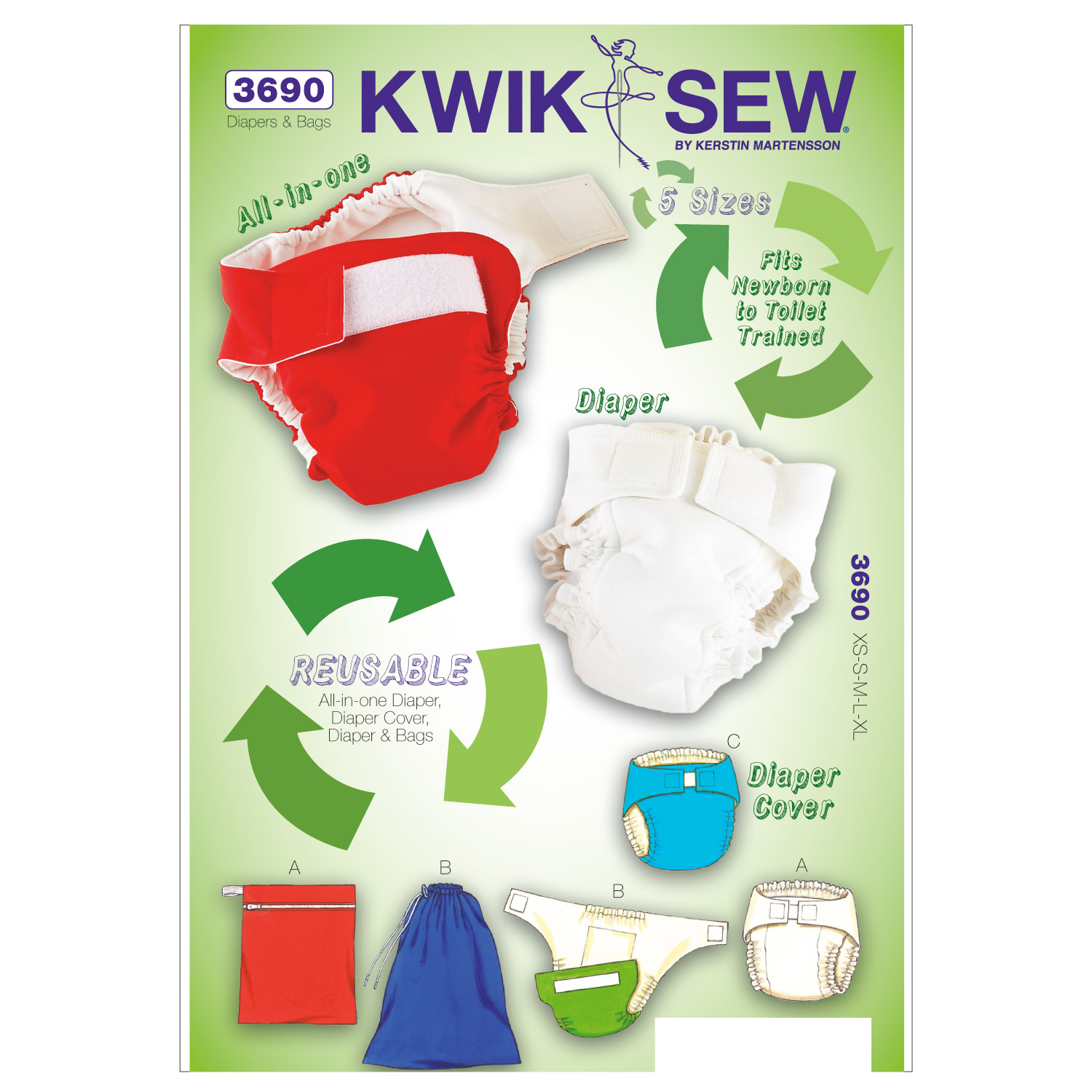 Kwik Sew Baby Changing Essentials-K3690
