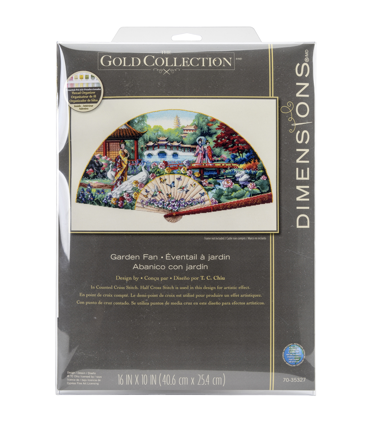 Dimensions® Gold Collection Counted Cross Stitch Kit-Garden Fan