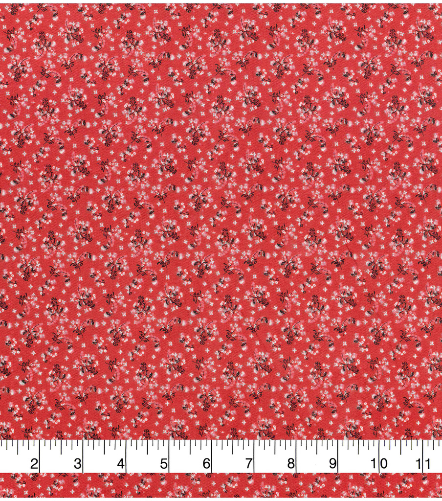 Keepsake Calico™ Cotton Fabric 43\u0022-Floral Coral