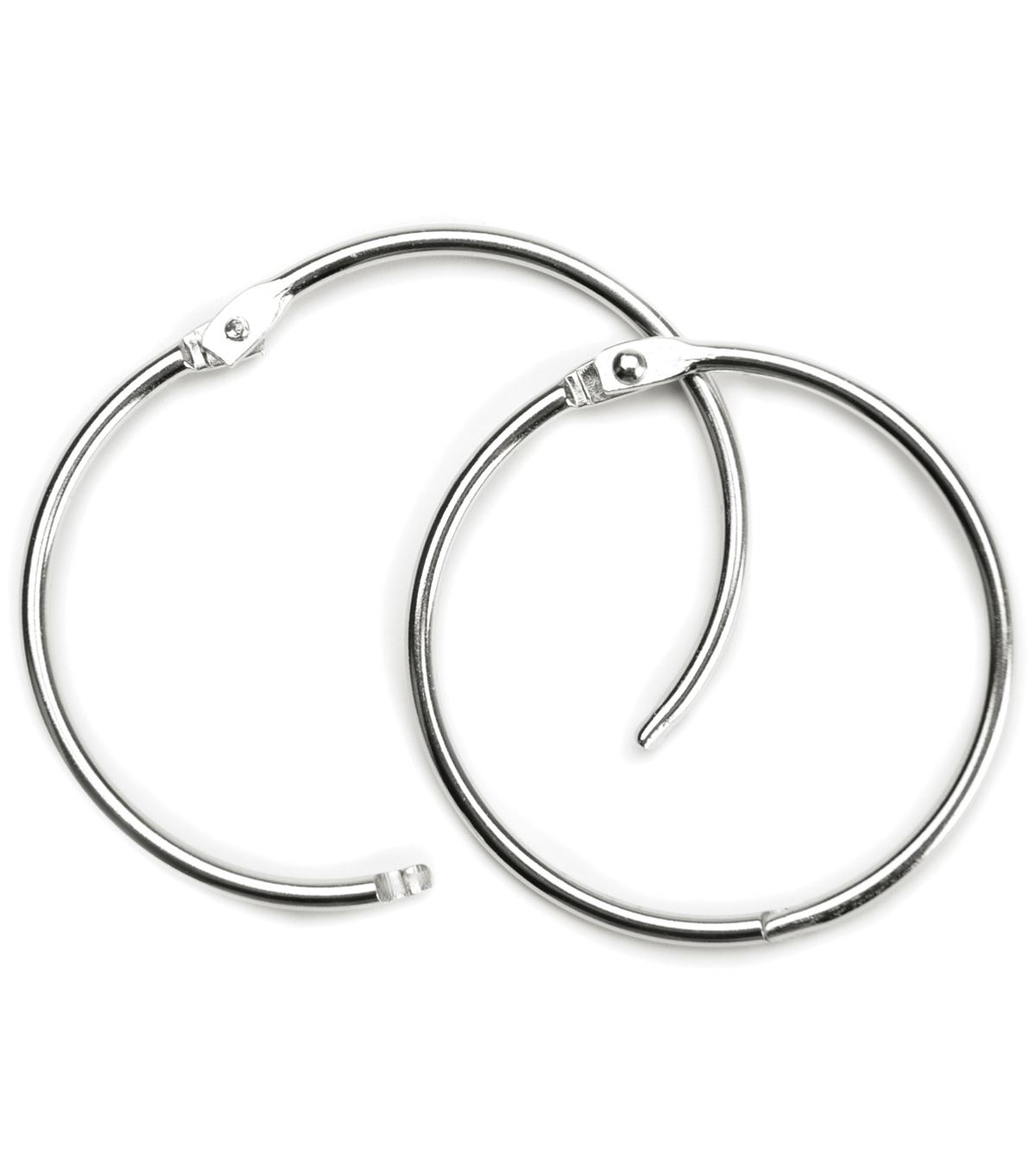 Baumgartens 2\u0022 Book Rings 2 Pack-Silver