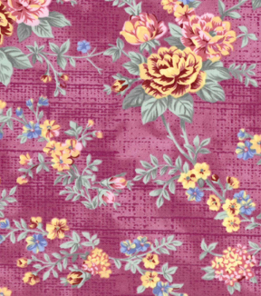 Two Daughters™ Cotton Fabric 43\u0022-Bright Spaced Floral