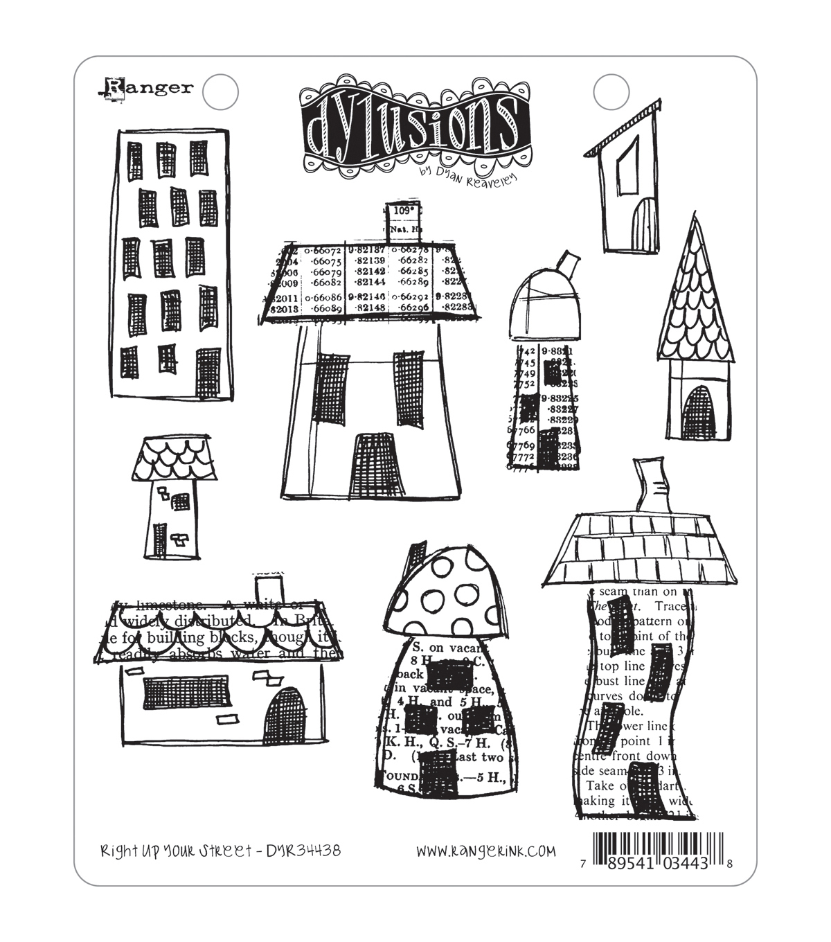 Dyan Reaveley\u0027s Dylusions Cling Stamp Collection-Right Up Your Street