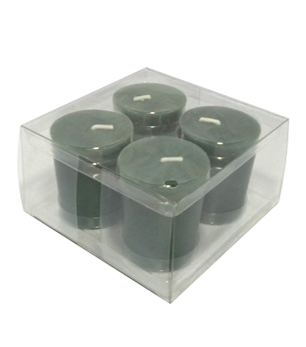 Maker\u0027s Holiday Christmas 4 pk Woodland Pine Scented Votive Candle-Green