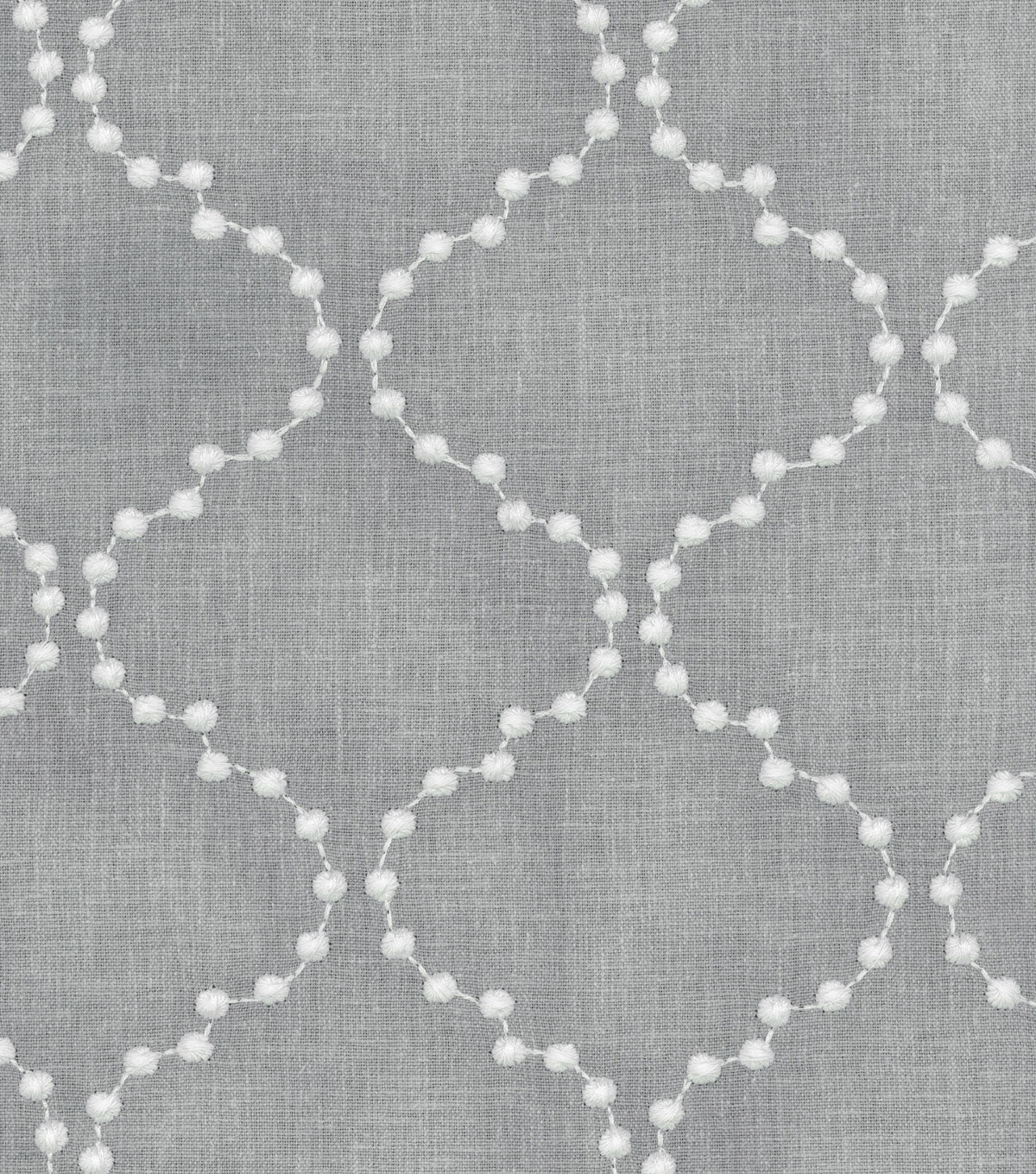 HGTV Home Upholstery Fabric 54\u0022-Pearl Drop Emb Smoke