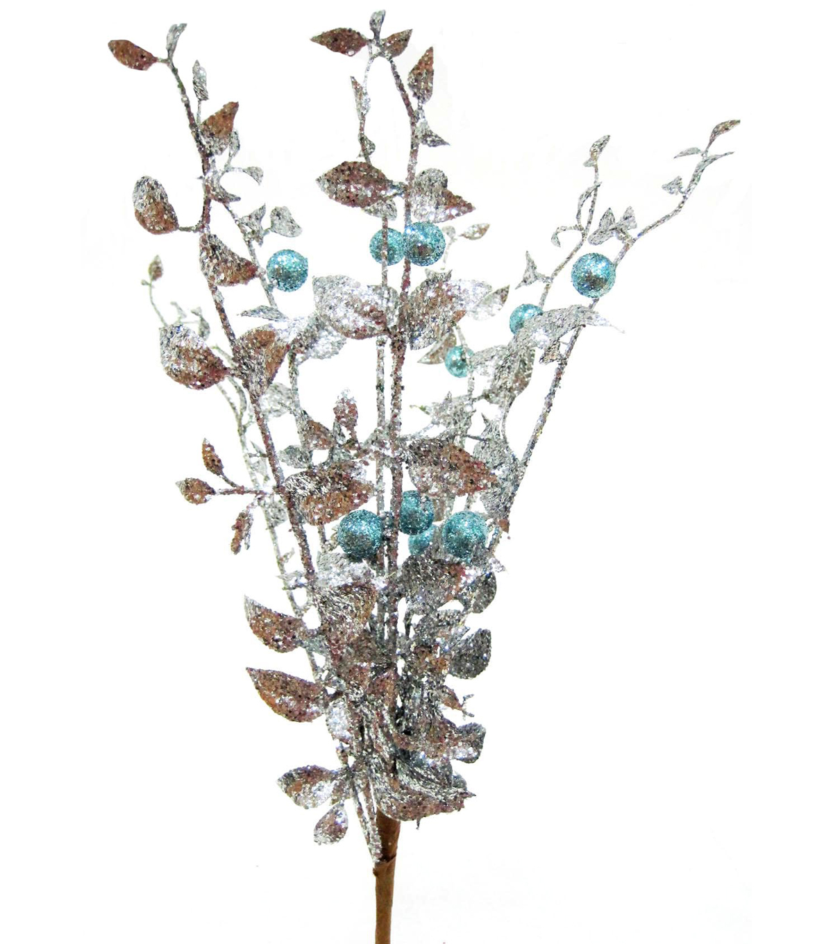 Blooming Holiday Berry Bush-Silver & Blue