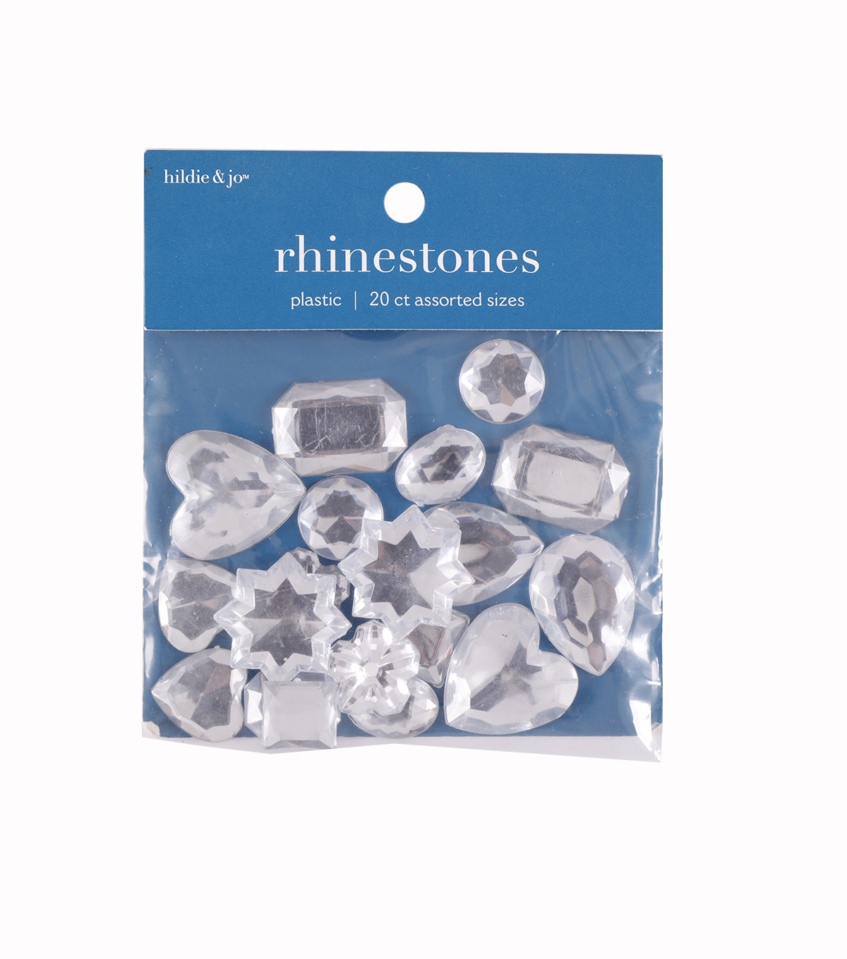 Darice Craft Designer Assorted Shape Gemstones-22gr/Cyrstal
