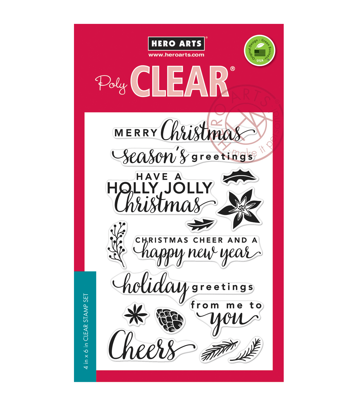 Hero Arts® Clear Stamps-Holiday Greetings