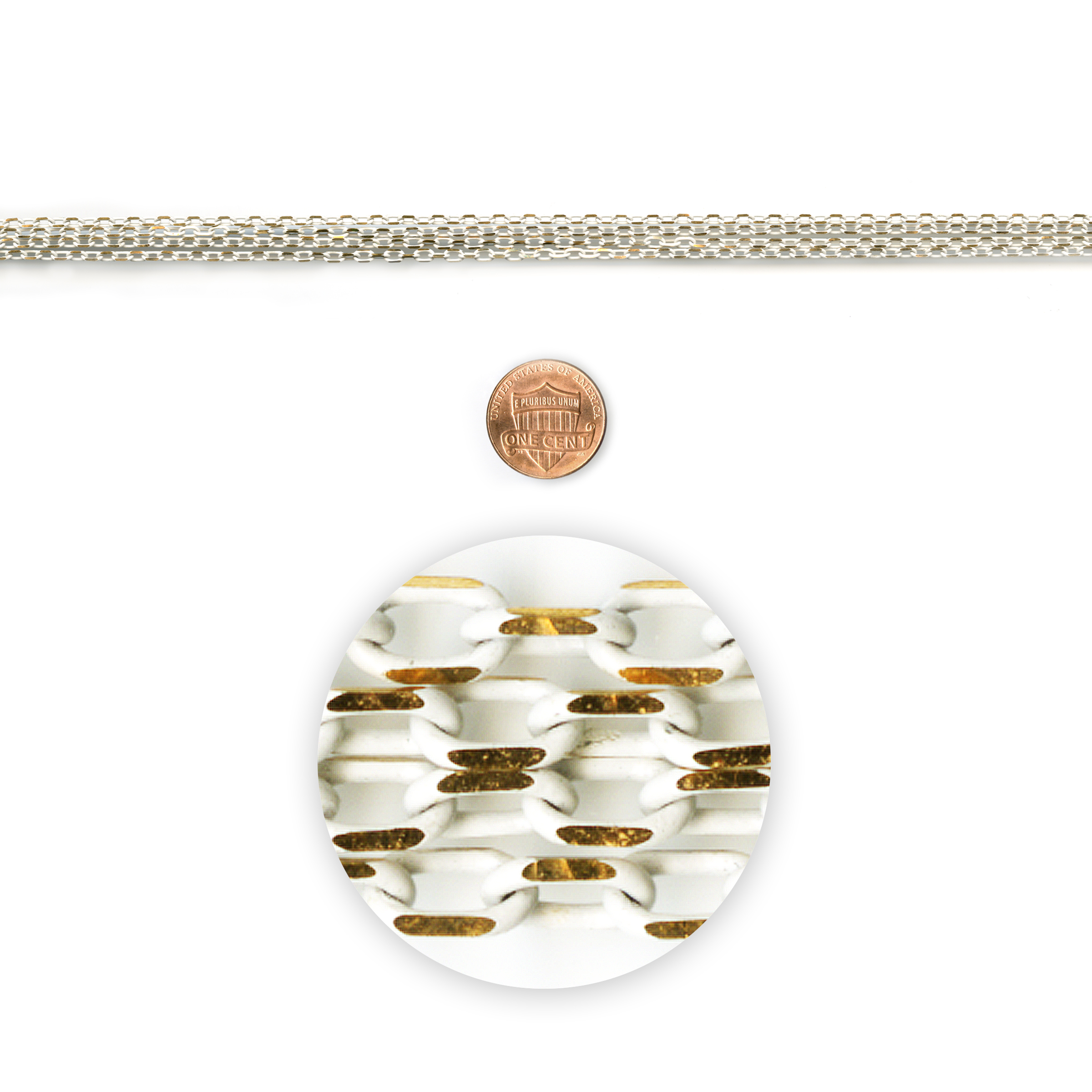 Blue Moon Beads Chain 42In Metal Cable Gold-White