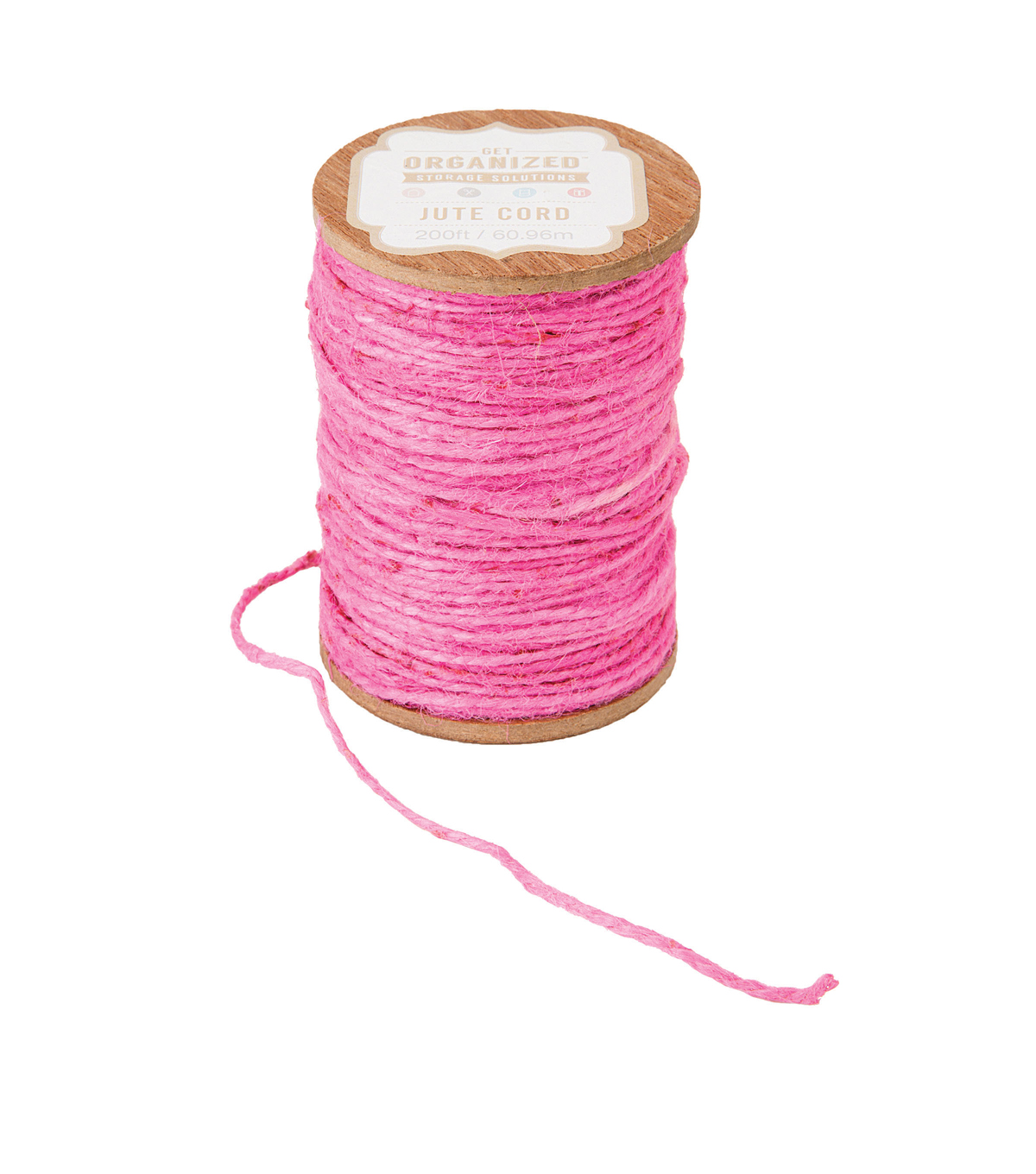 Jute Cord-Coral-200 yards