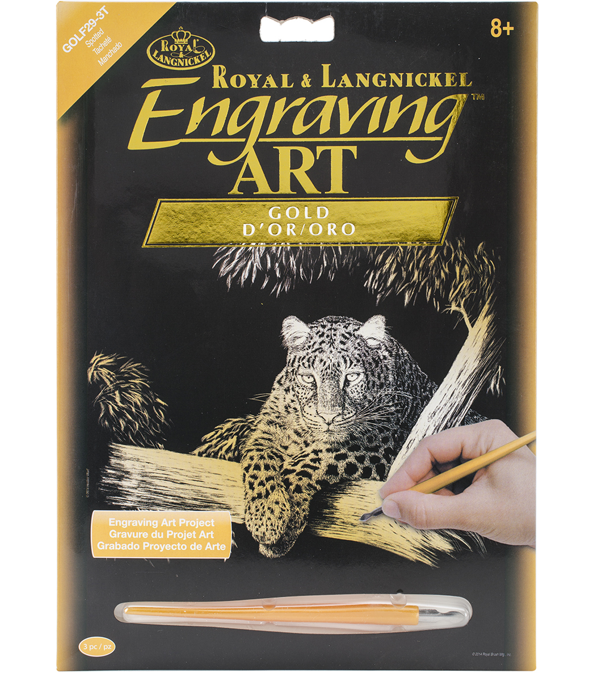 "Gold Foil Engraving Art Kit 8""X10""-Spotted"