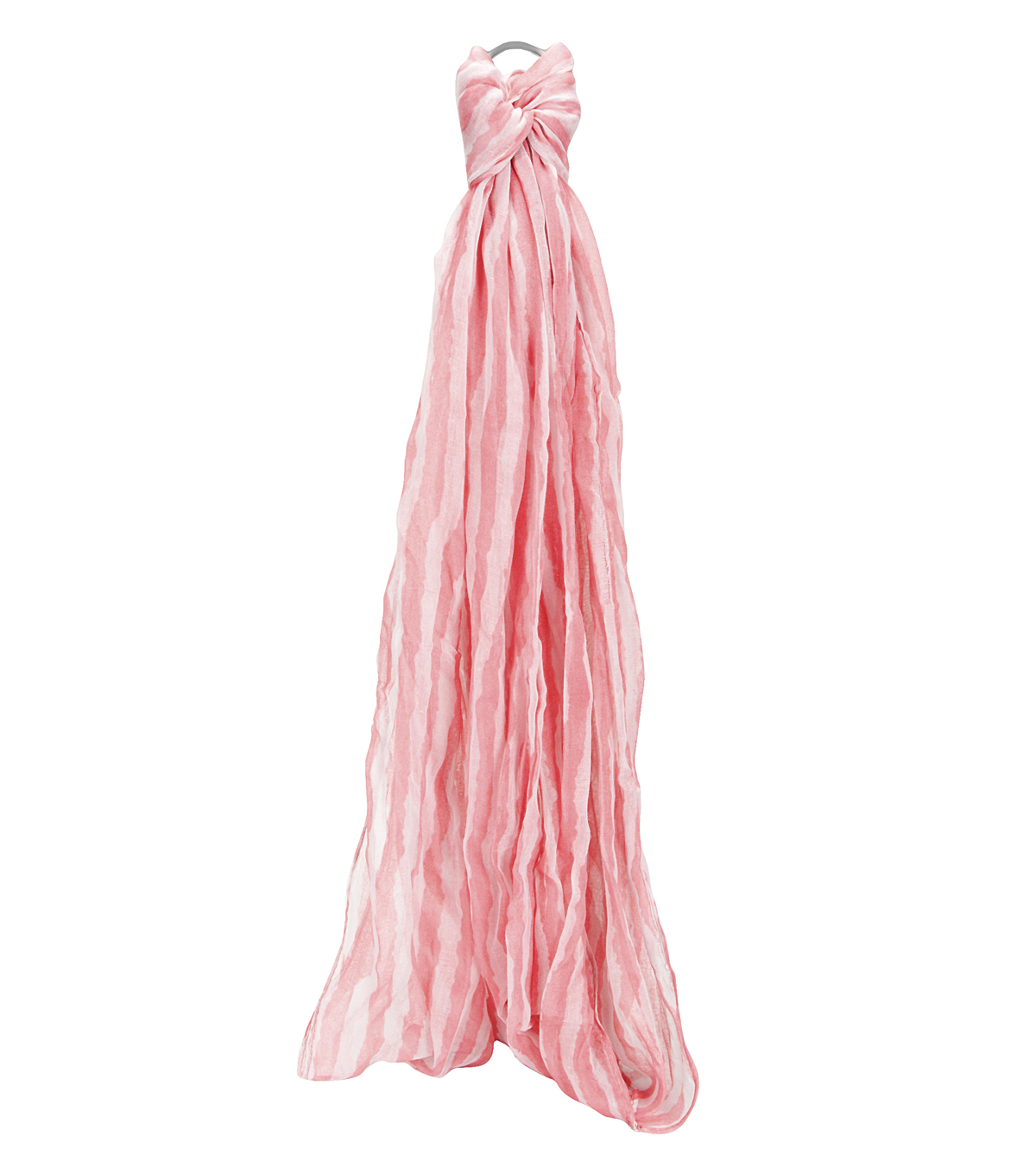 Oxford Street Jewelry Co. Pink & White Striped Infinity Scarf