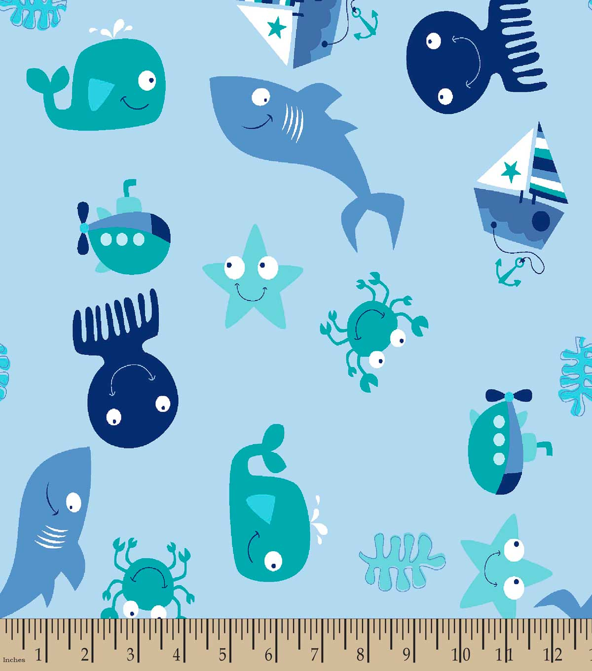 Under the Sea Print Fabric