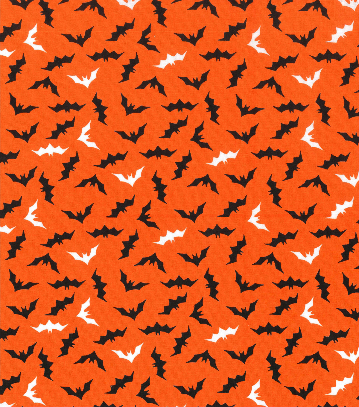 Holiday Showcase™ Halloween Cotton Fabric 43\u0027\u0027-Mini Bats on Orange