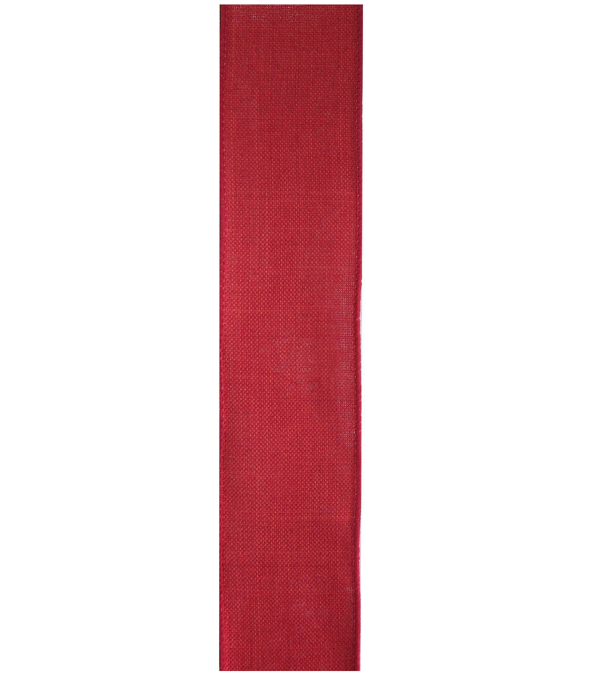 Decorative Ribbon 1.5\u0022 Solid Linen Ribbon-Red