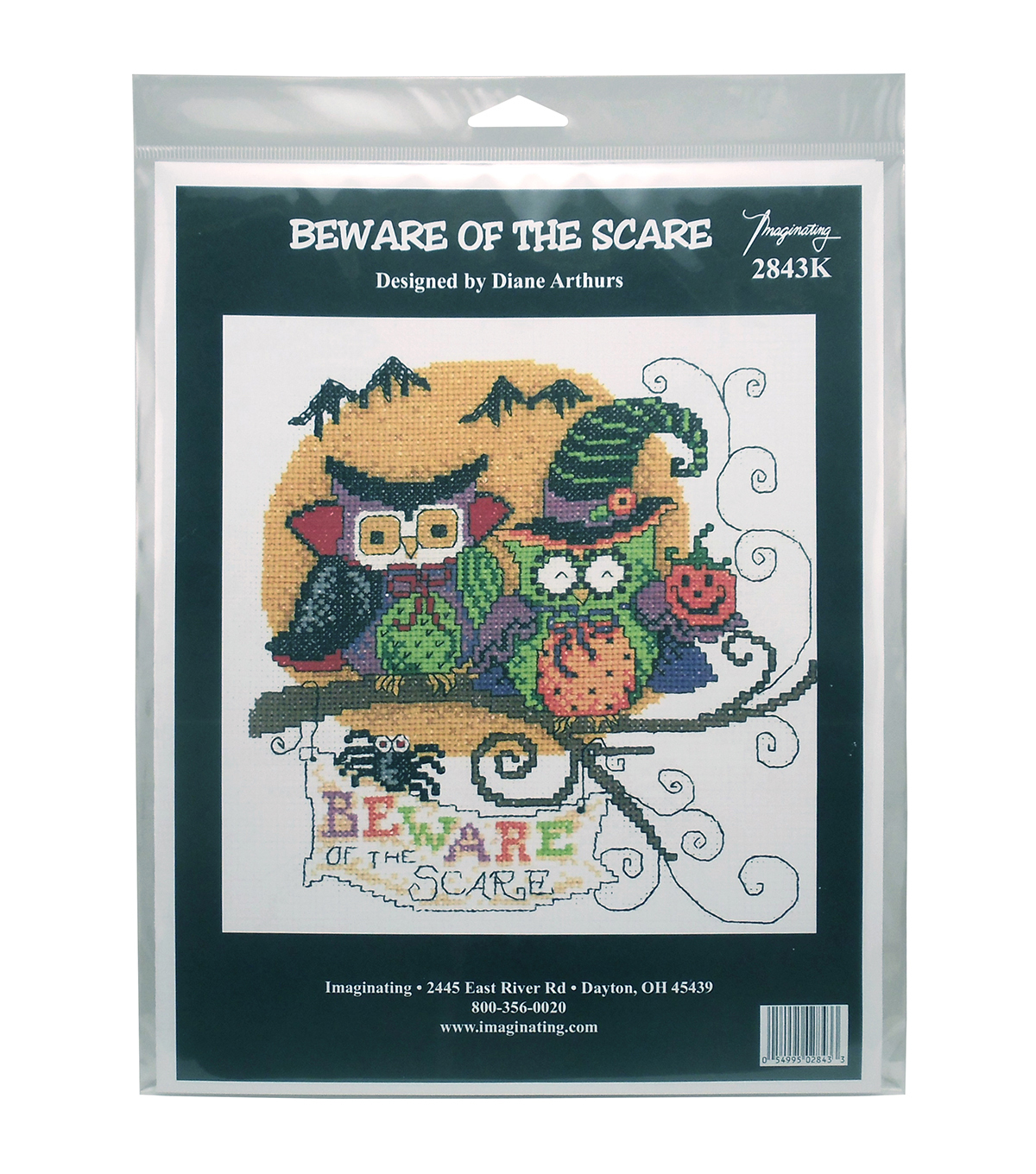 Imaginating Counted Cross Stitch Kit-Beware Of The Scare