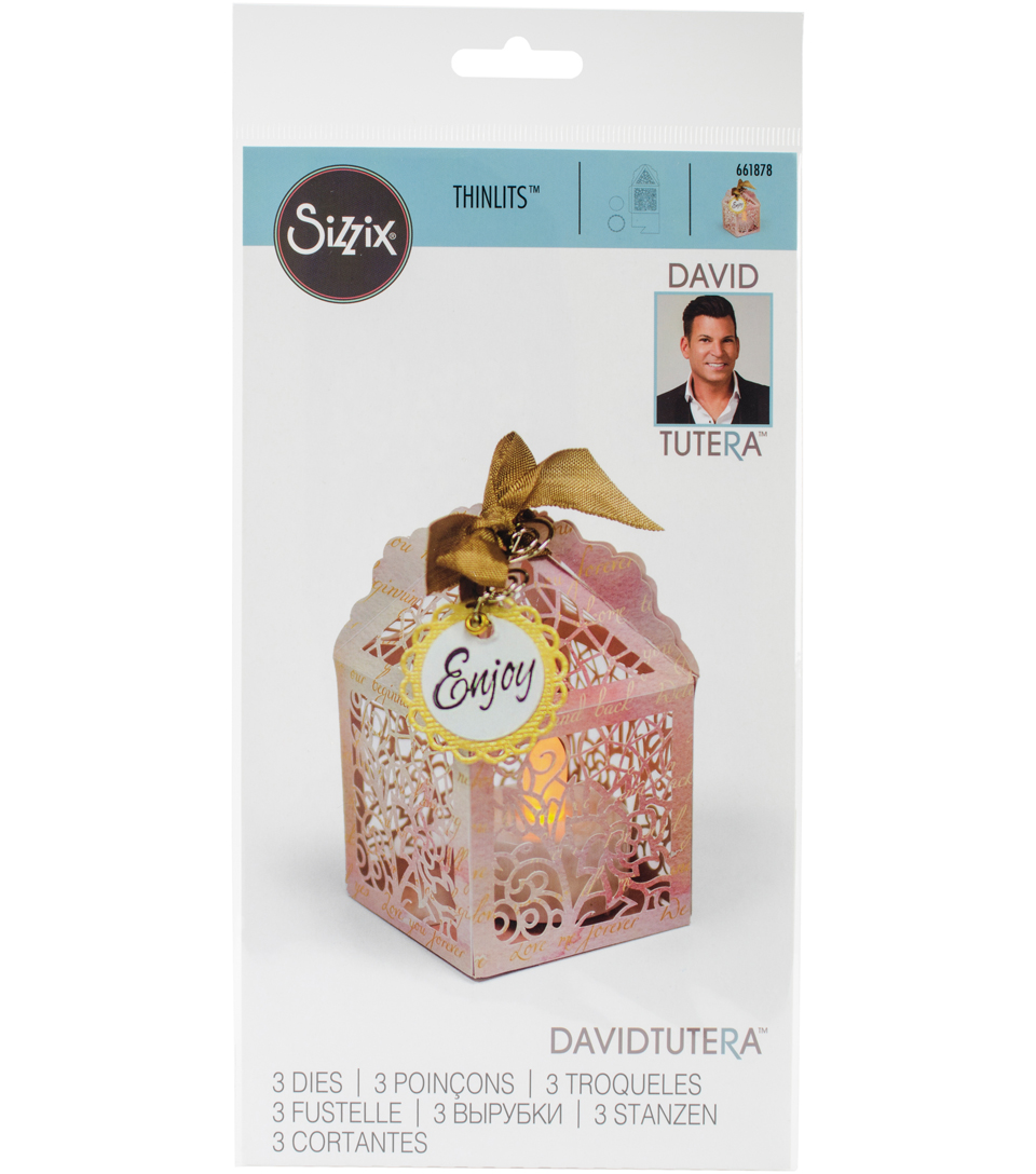 Sizzix Thinlits Dies By David Tutera-Birdcage Favor Box