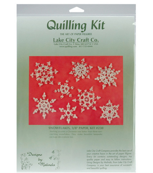 Lake City Craft Quilling Kit-8PK/Snowflakes