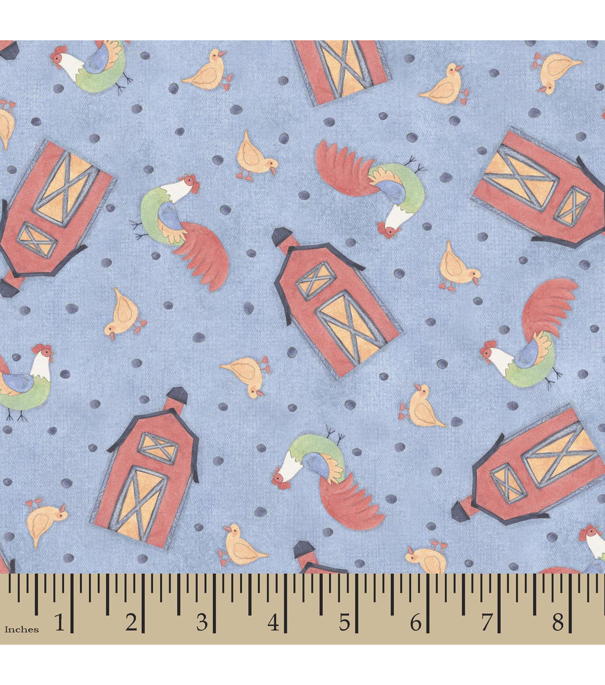 Nursery Fabric-Susan Winget Down On The Farm Barn Toss Cotton