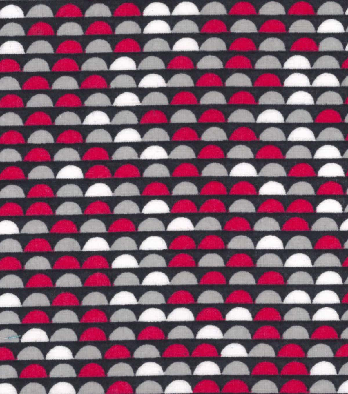 Quilter's Showcase™ Fabric 43''-Raspberry Half Circle on Navy