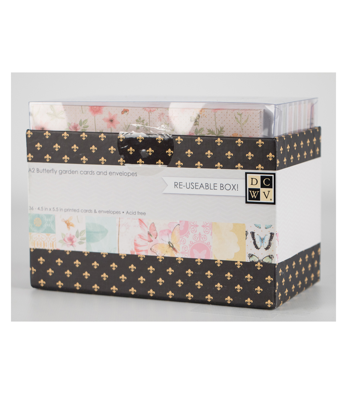 DCWV A2 Box of Cards and Envelopes: Butterfly Garden