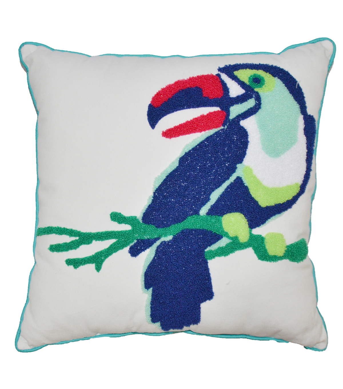 Summer Sol Embroidered Pillow-Toucan