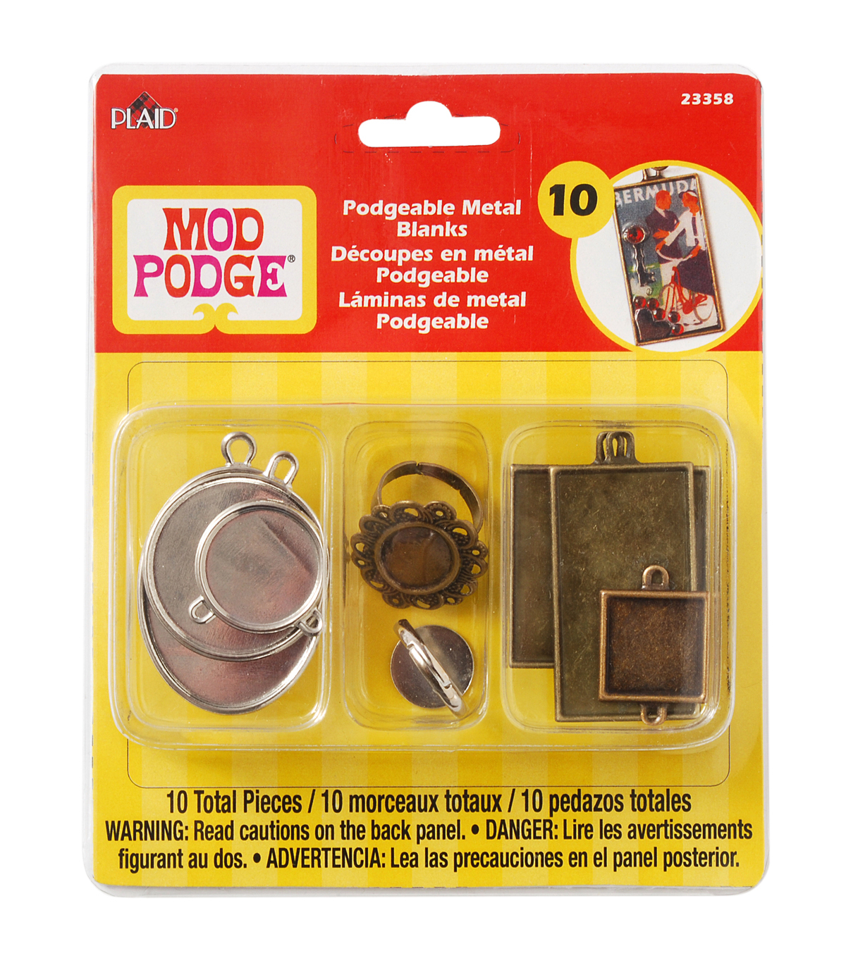 Mod Podgeable Metal Blanks 10/Pkg