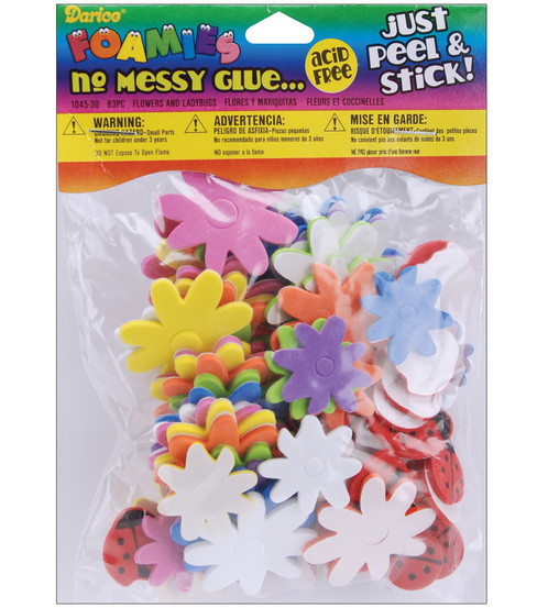 Darice® Foamies No Messy Glue-Flower/Ladybug