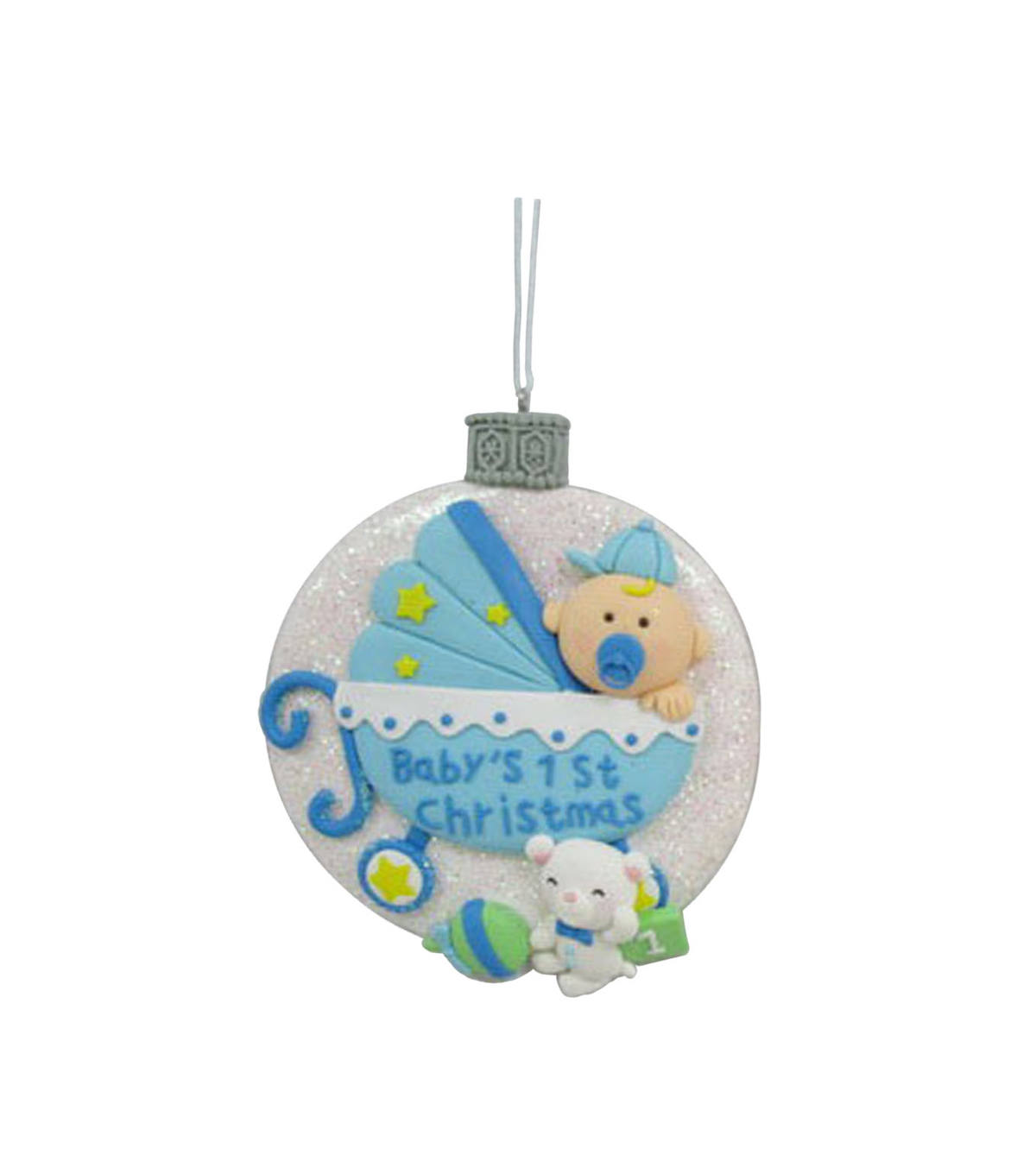 Maker's Holiday Baby Boy's First Christmas Ornament