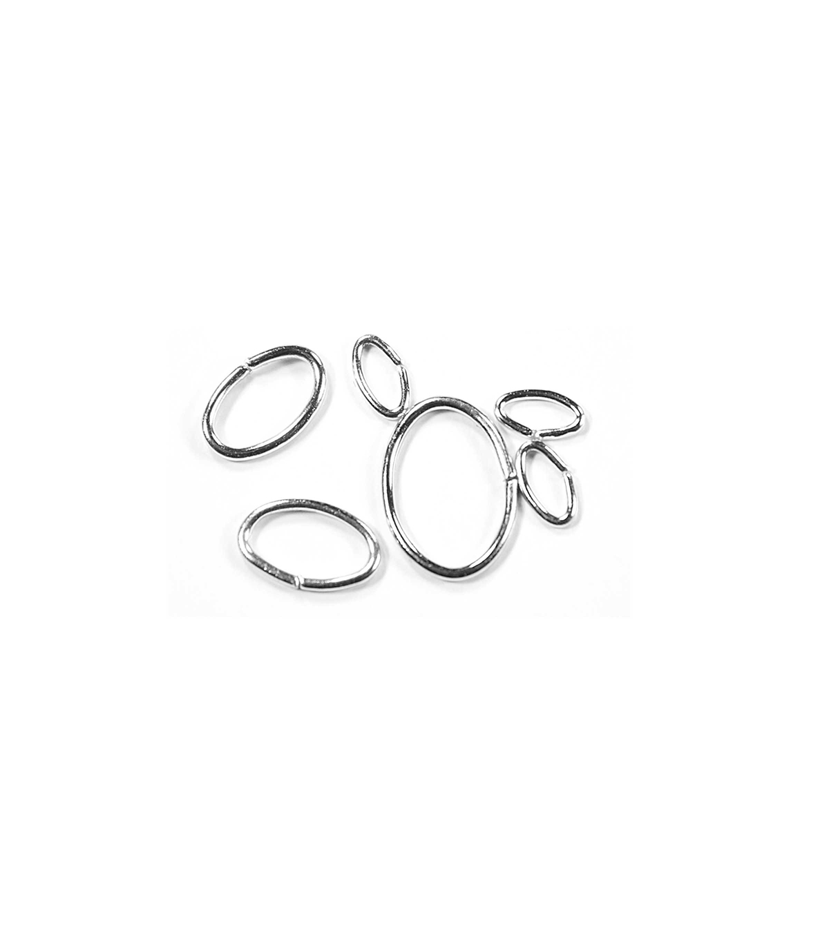Blue Moon Findings Jump Ring Metal Multi Pack Oval Silver