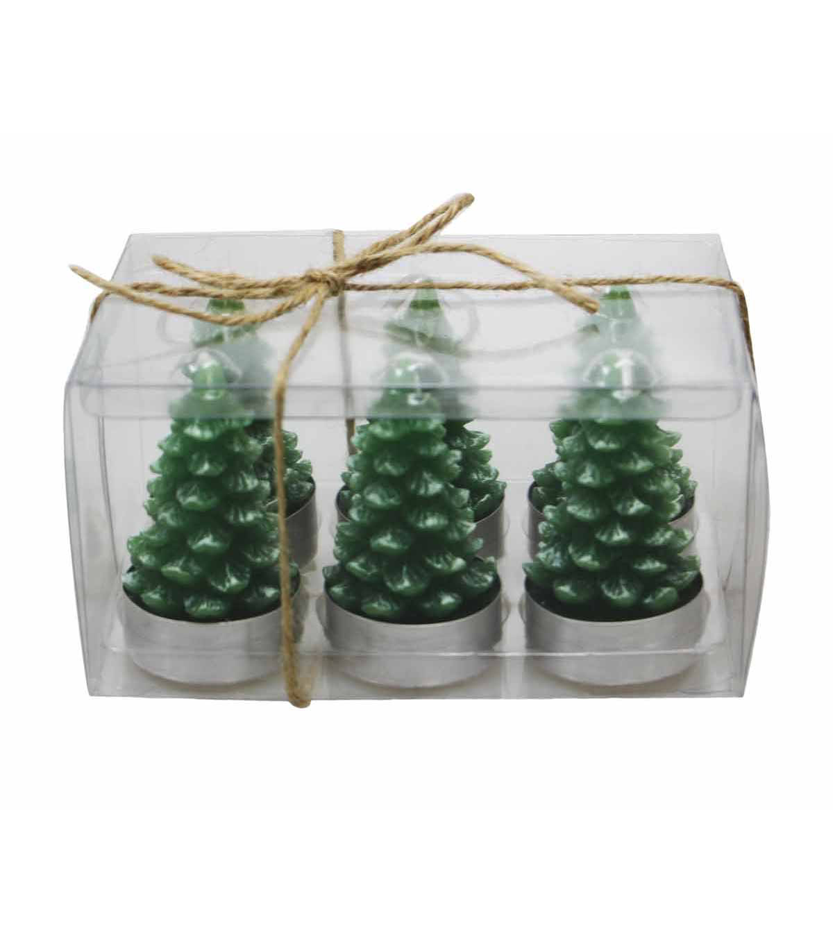 Maker\u0027s Holiday 6ct Snowy Tealights-Green