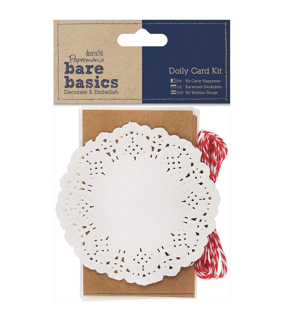 Papermania Bare Basics Doily Card Kit