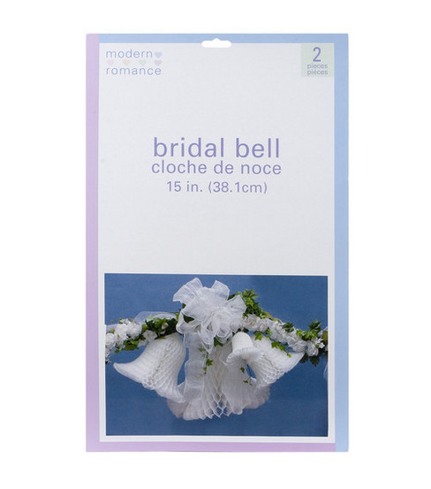 "15"" Honeycomb Bridal Bell Decoration-White"