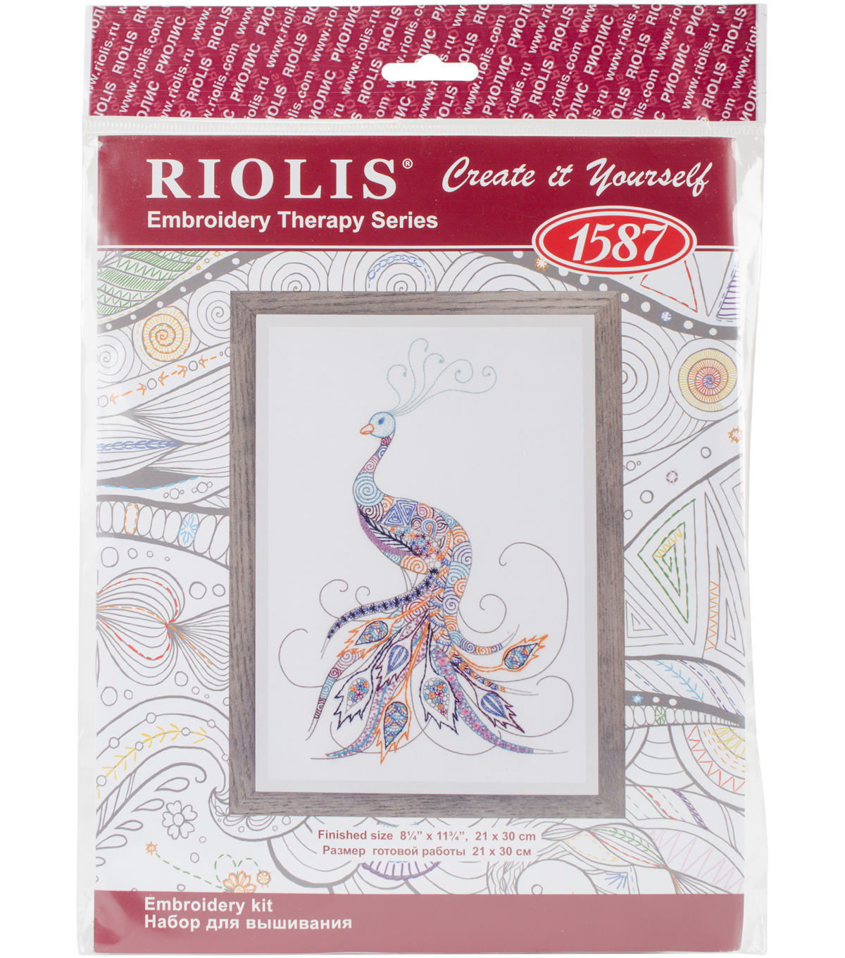 Bird Of Luck Embroidery Kit-8.2\u0022X11.7\u0022 28 Count