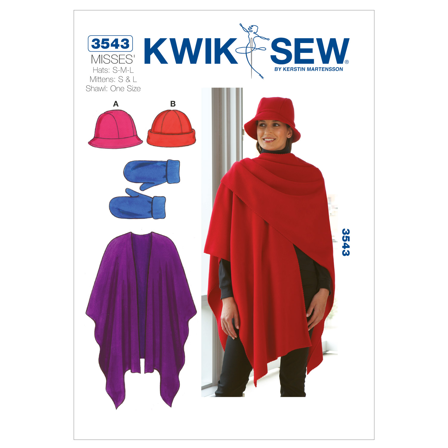 Kwik Sew Misses Headgear-K3543