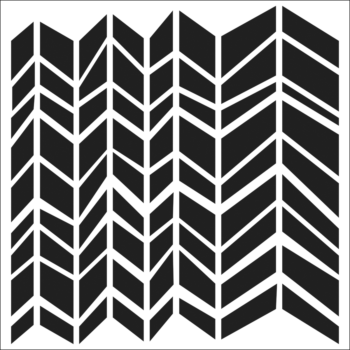 "Crafter's Workshop Templates Chunky Chevron 12"" x 12"""