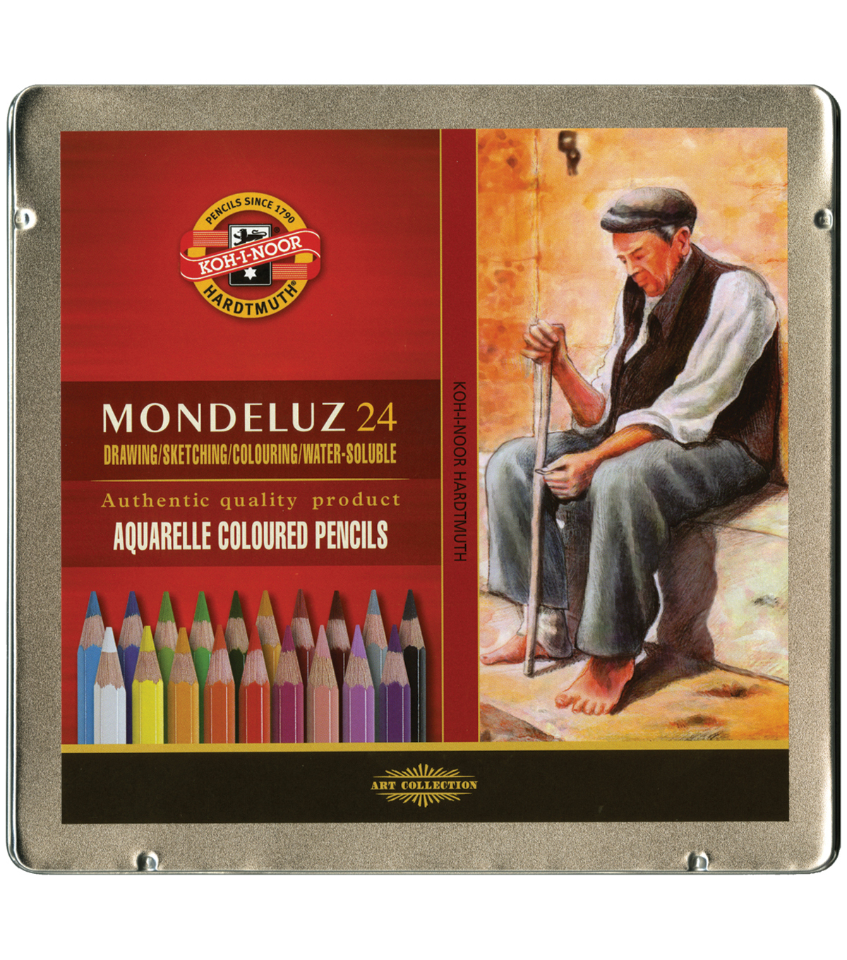 Mondeluz Aquarell Watercolor Pencils-24PK
