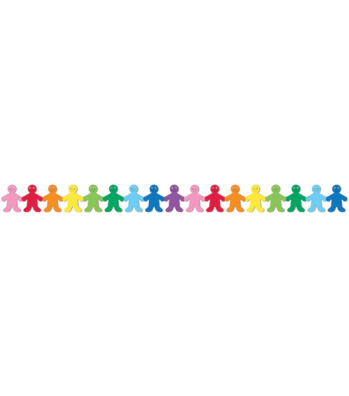 Classroom Diecut Borders 3\u0022X36\u0022 12/Pkg-Rainbow People
