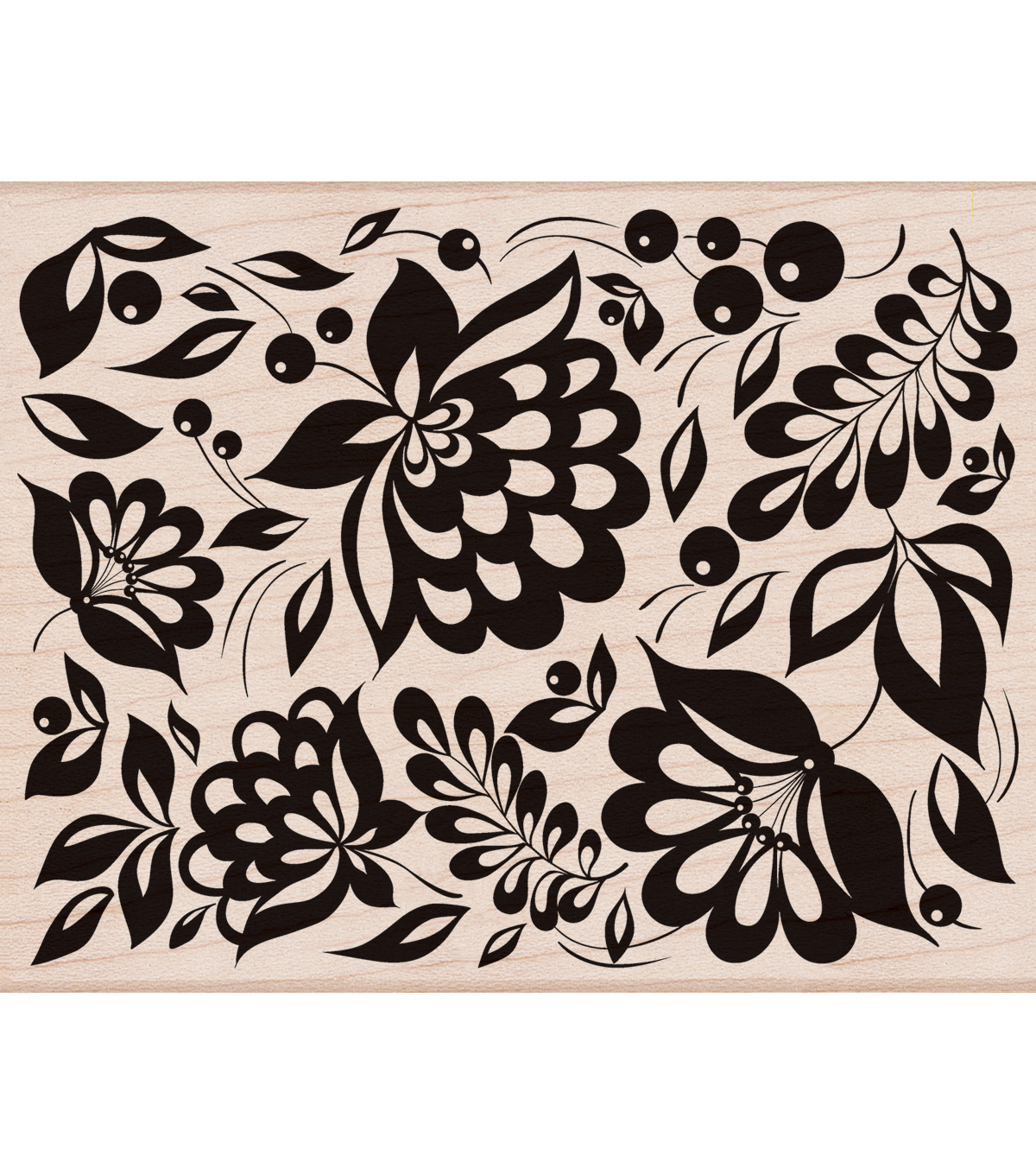 Hero Arts® Mounted Rubber Stamp-Large Floral Background