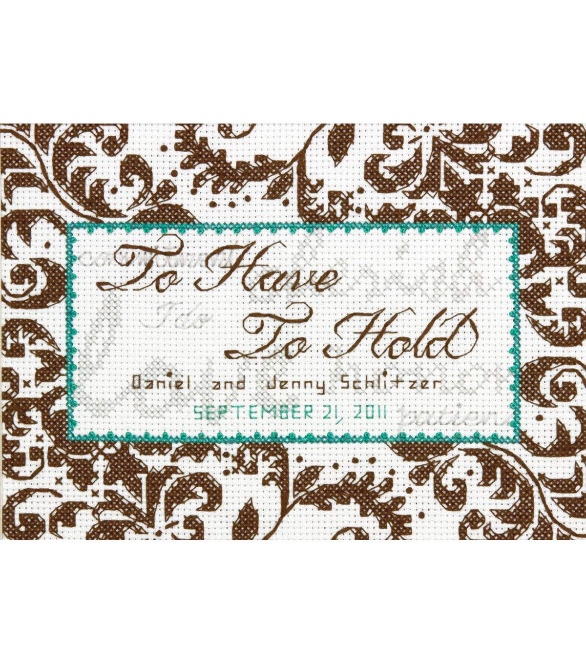 "Treasured Words Wedding Record Mini Counted Cross Stitch Kit-7""X5"""