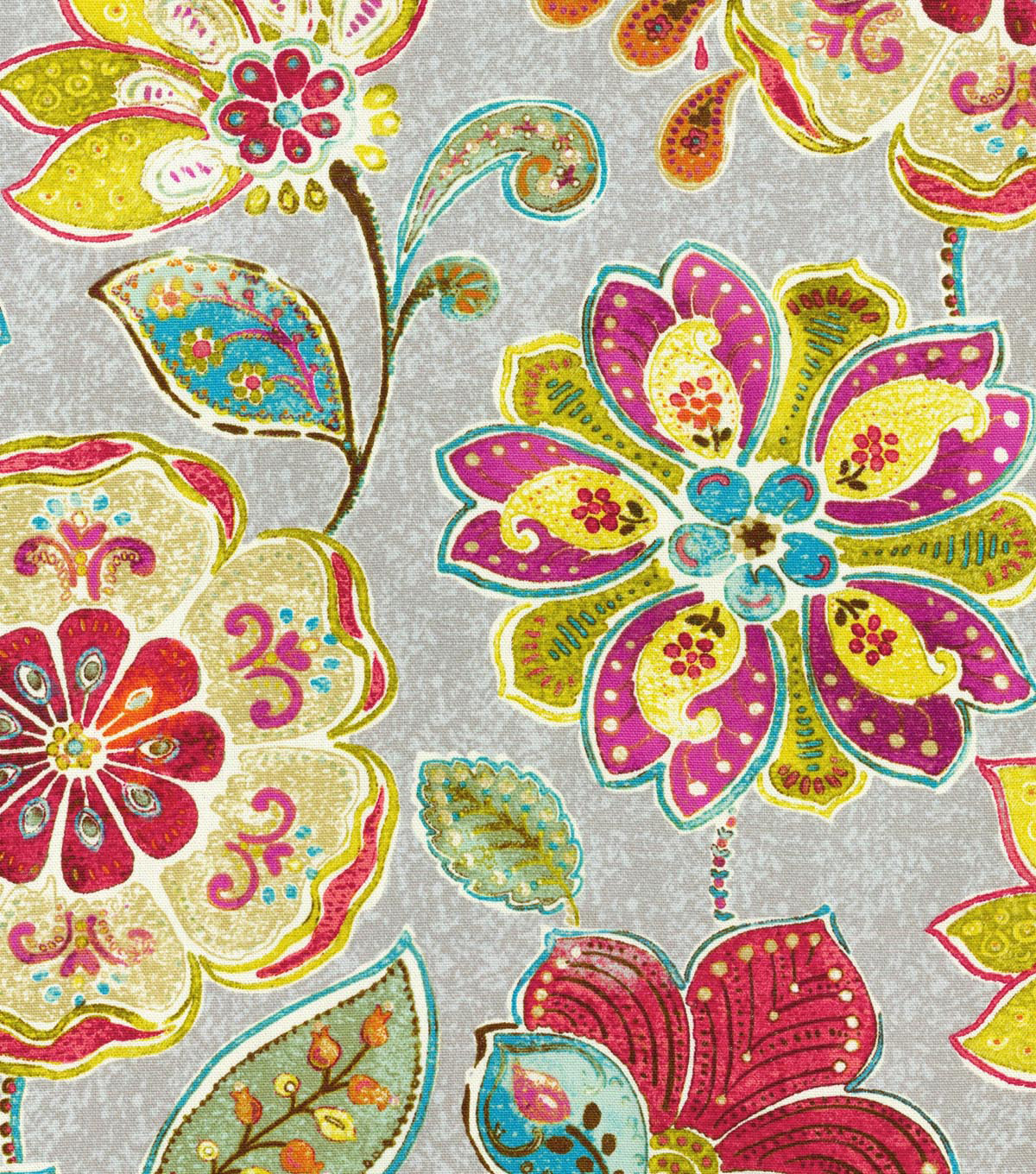 "Home Decor 8""x8"" Swatch Fabric-Iman Javanese Garden Blossom"