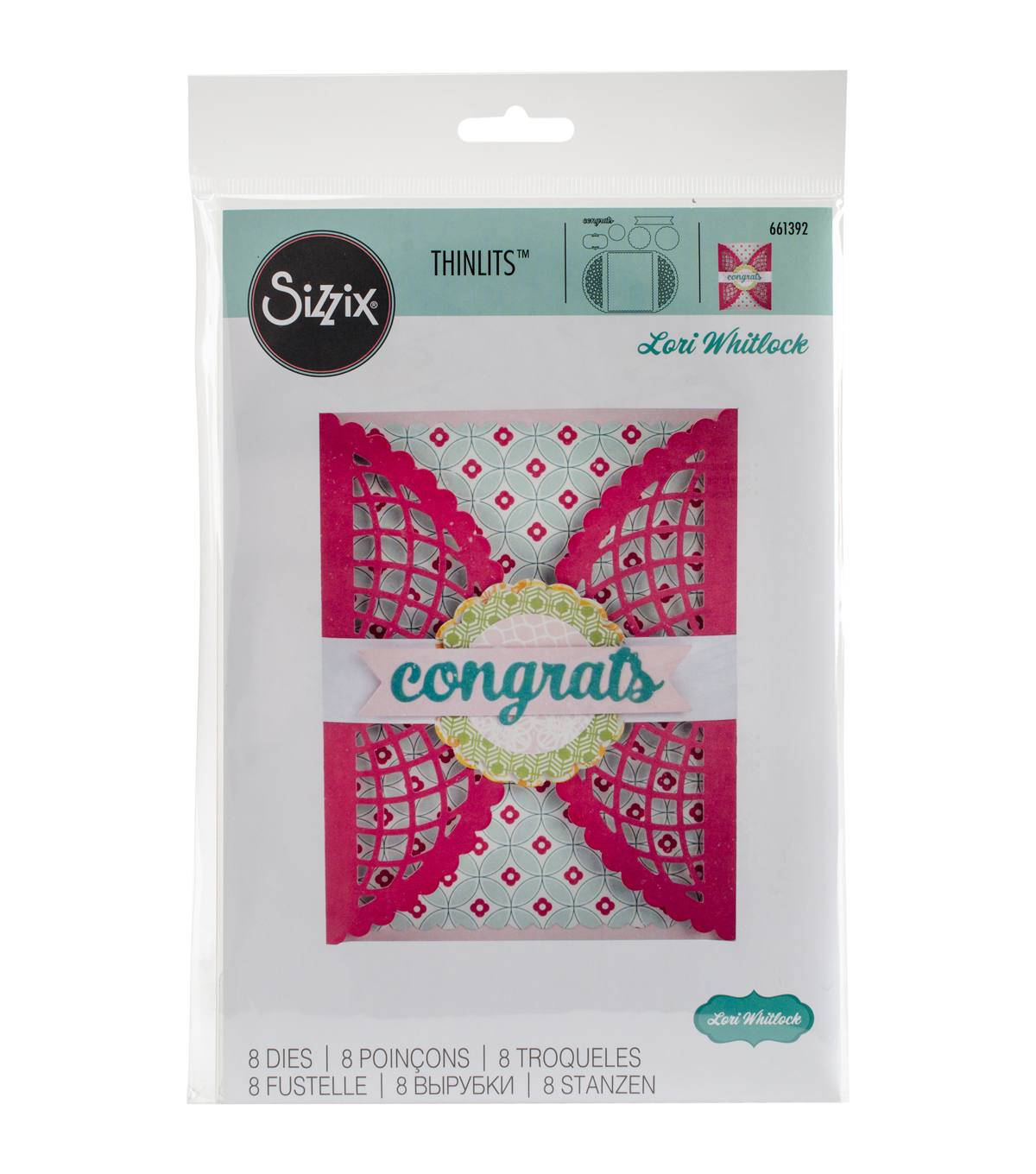 Sizzix Thinlits 8 Pack Dies-Scalloped Lace Gatefold Card