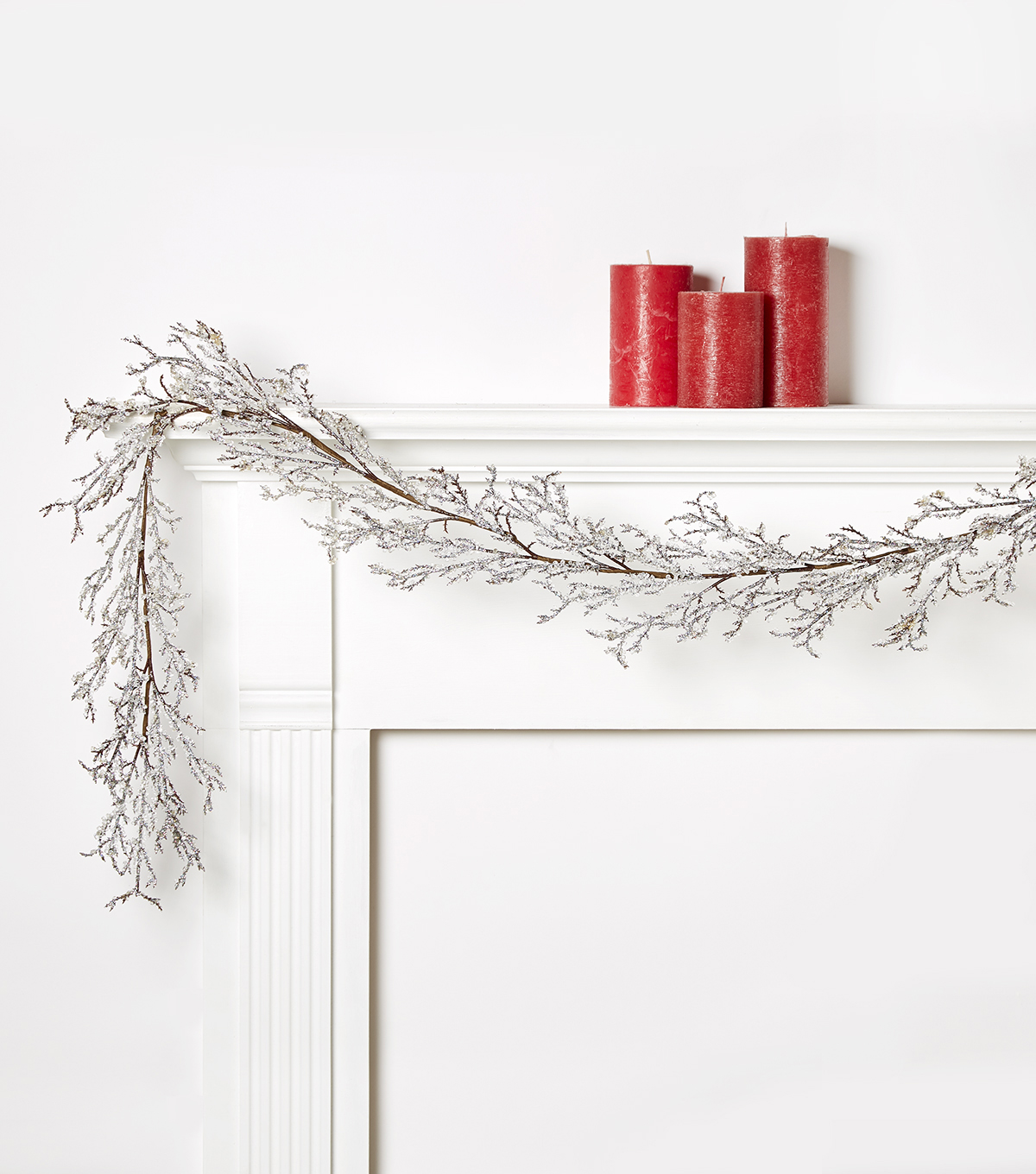 Blooming Holiday 66\u0027\u0027 Iced Branches Garland
