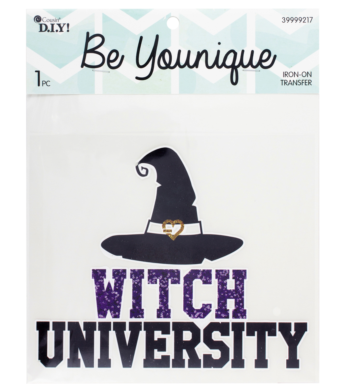 Cousin® DIY Be Younique Iron-On Transfer-Witch University
