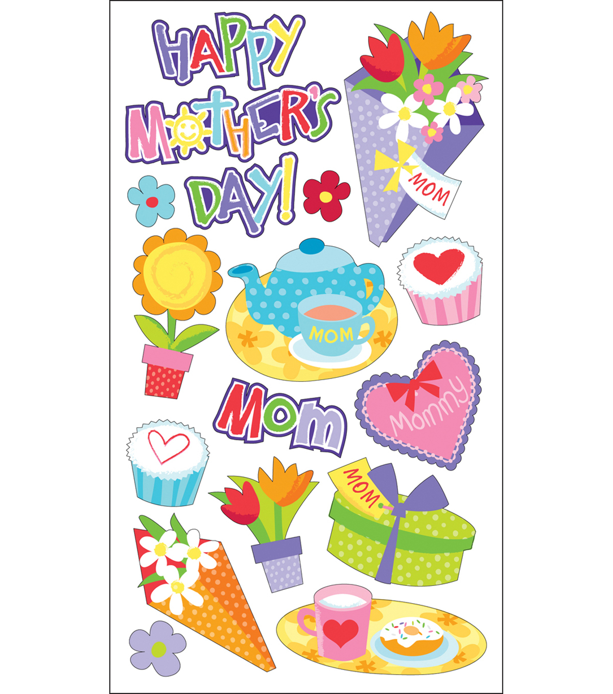 Sticko Sparkler Classic Stickers-Mother\u0027s Day
