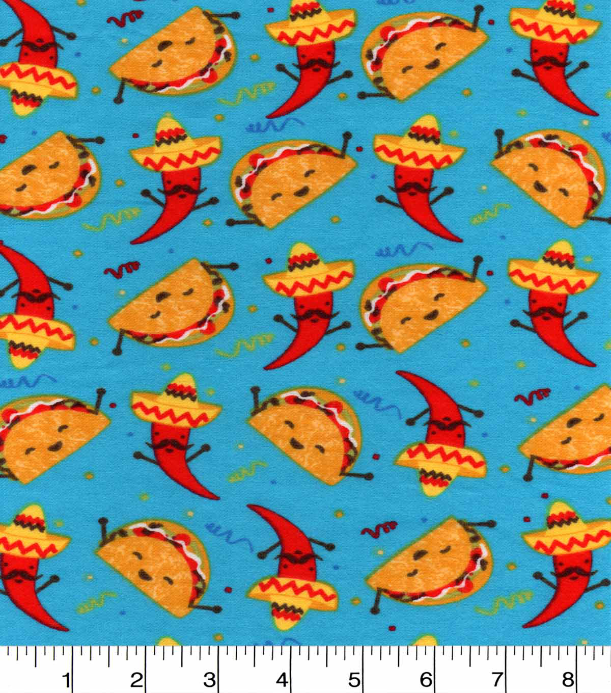 "Snuggle Flannel Fabric 42""-Tacos And Chili Peppers"