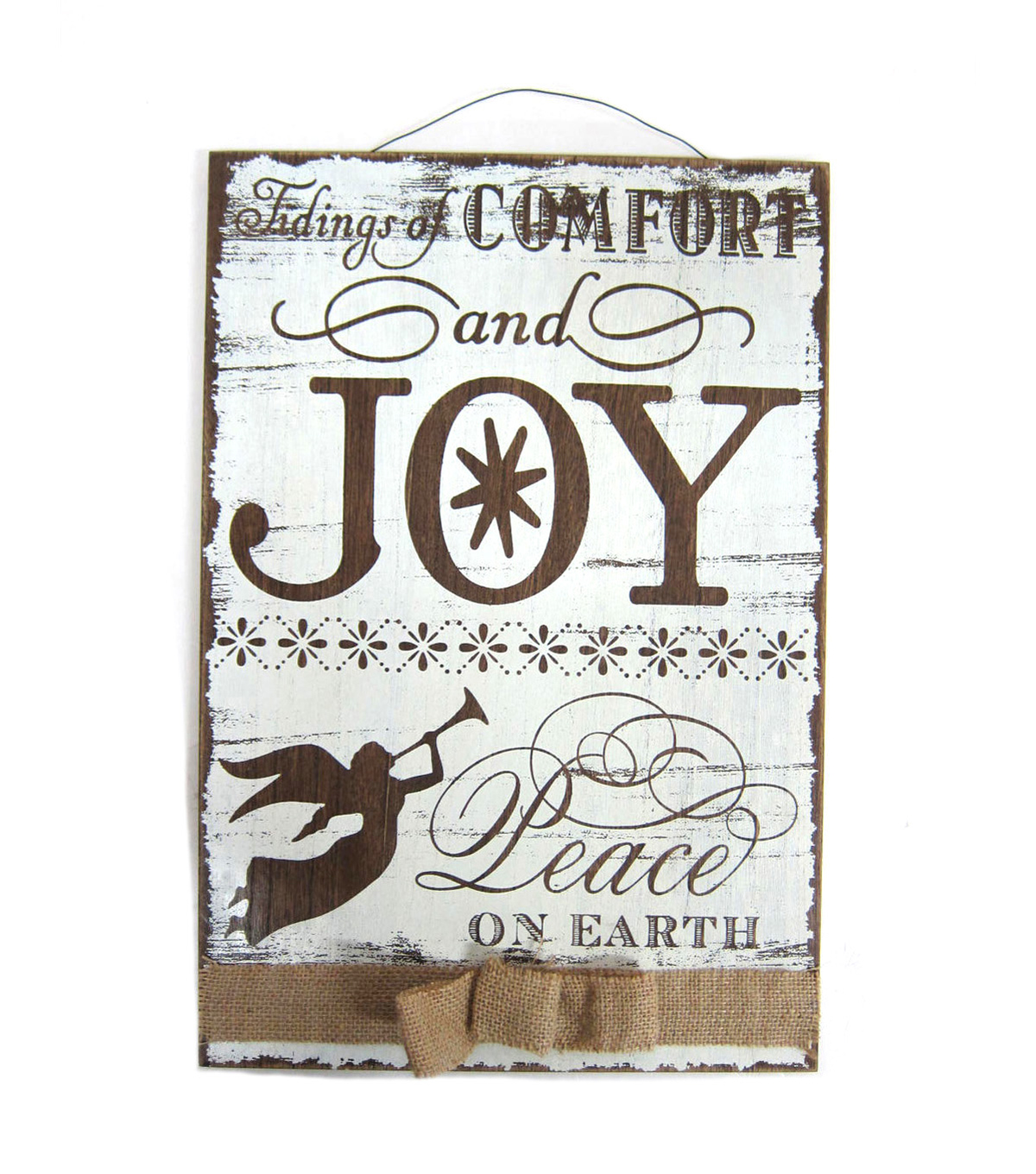 Sparkling Woodland Wall Sign With Bow